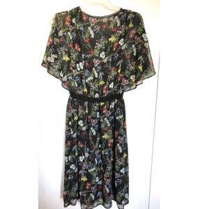 Max Studio Dresses - Max Studio Floral V Neck Flutter Sleeve Dress NWT! e645f0a62